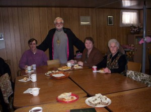 Fellowship after preaching in an Anglican church.
